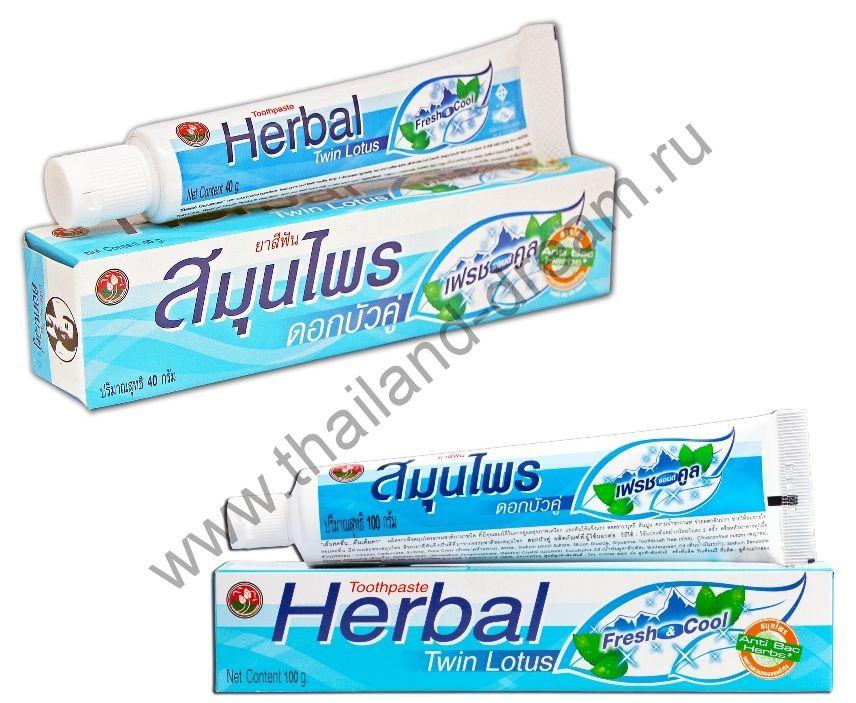 Растительная зубная паста Twin Lotus Herbal Fresh Cool