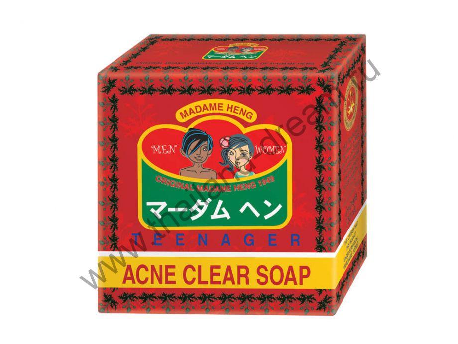 Тайское лечебное мыло с экстрактом чайного дерева Acne Clear Soap Madame Heng