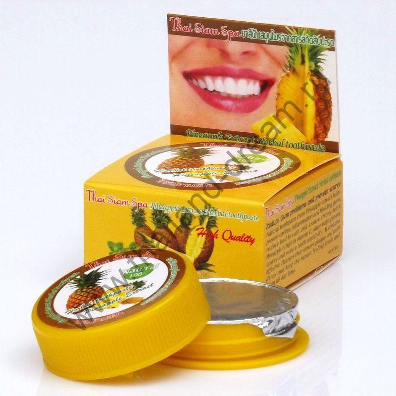 Травяная зубная паста с экстрактом гвоздики и ананаса