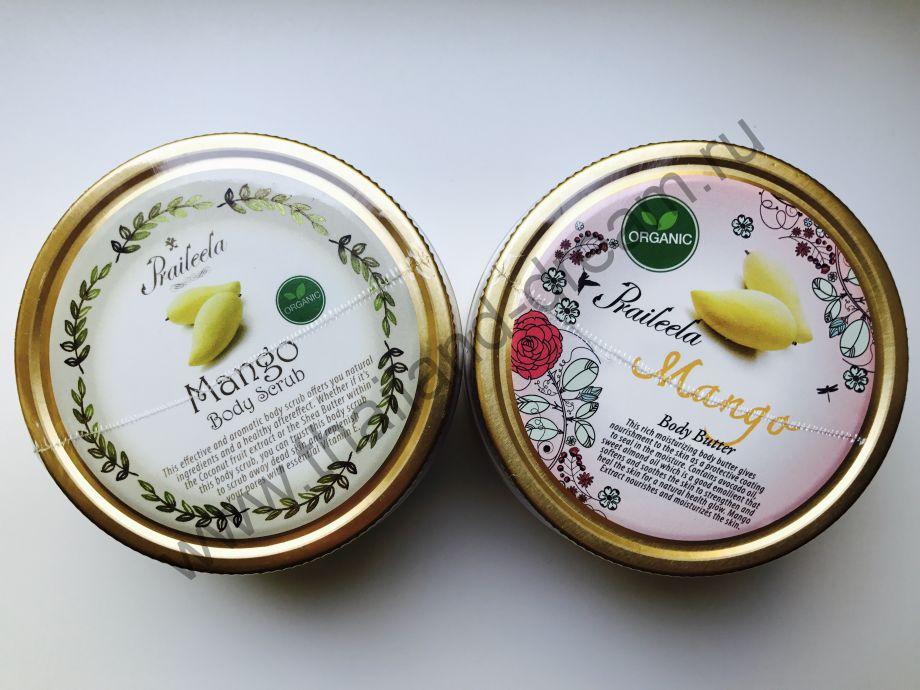 "Райский набор ""скраб и баттер"" манго Praileela"
